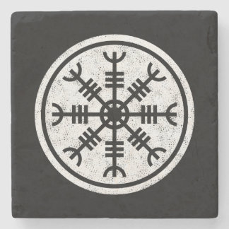 The Helm Of Awe Vikings Stone Coaster