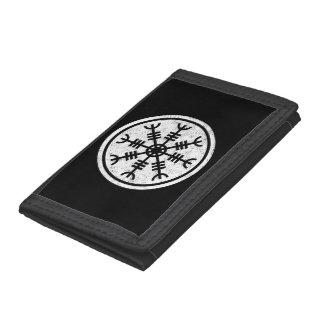 The Helm Of Awe Vikings Tri-fold Wallets