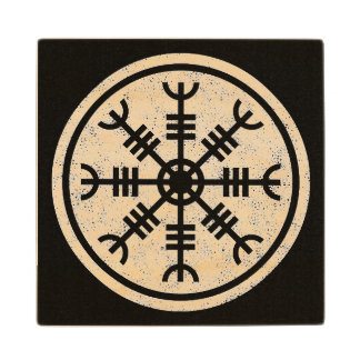The Helm Of Awe Vikings Wood Coaster
