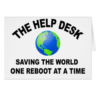 The Help Desk - Saving The World Cards