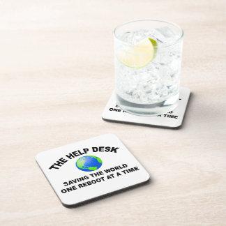 The Help Desk - Saving The World Beverage Coaster