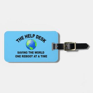The Help Desk - Saving The World Bag Tag