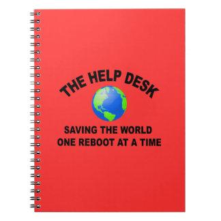 The Help Desk - Saving The World Spiral Notebook