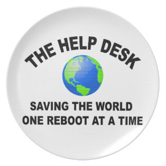 The Help Desk - Saving The World Dinner Plates