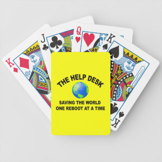 The Help Desk - Saving The World Bicycle Playing Cards