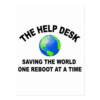 The Help Desk - Saving The World Postcard