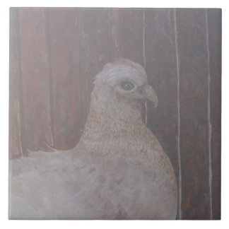 The Hen Large Square Tile