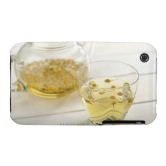The herb tea which a glass teapot and a cup iPhone 3 covers