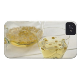The herb tea which a glass teapot and a cup Case-Mate iPhone 4 cases