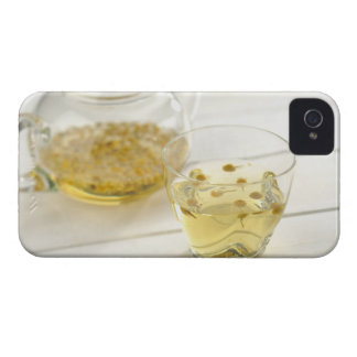 The herb tea which a glass teapot and a cup iPhone 4 cases