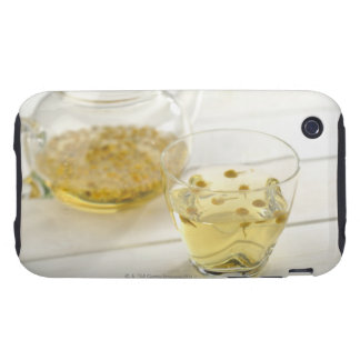 The herb tea which a glass teapot and a cup tough iPhone 3 cover