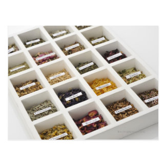 The herbs which a box contains postcard