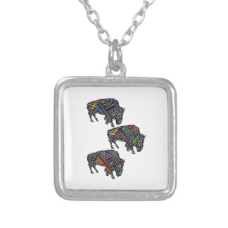 THE HERDS MOVEMENT SILVER PLATED NECKLACE