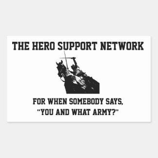 The Hero Support Network Sticker