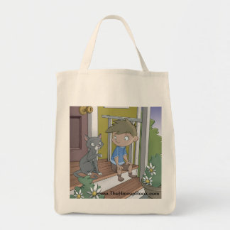 The Hiccup Book grocery tote - Asking the Cat