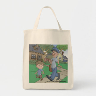 The Hiccup Book grocery tote - Asking the Mailman