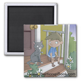 The Hiccup Book magnet - The Cat