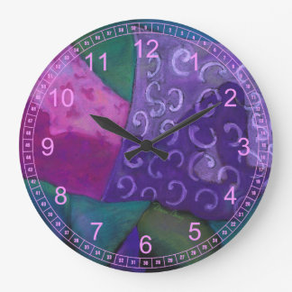 The Hideaway - Purple and Magenta Heaven Wall Clock