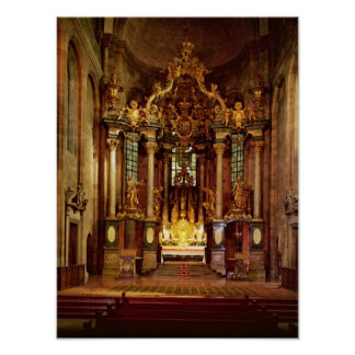 The high altar in the east choir poster