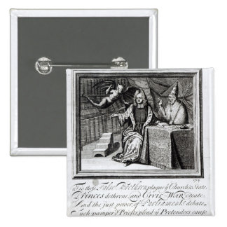 The High Church Champion and his two Seconds 15 Cm Square Badge