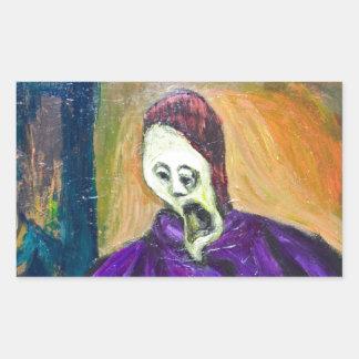 The High Priest expressionism portrait Sticker