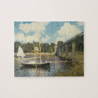 The Highway Bridge at Argenteuil by Claude Monet Jigsaw Puzzle