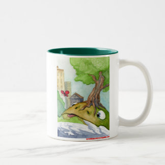 The Hill Frog and the Butterfly Two-Tone Coffee Mug