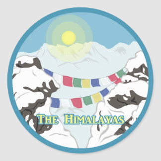 The Himalayas Classic Round Sticker
