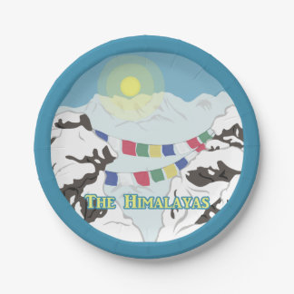 The Himalayas Paper Plate