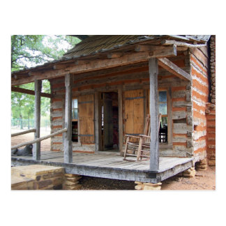 The Himes Log House - Euless, Texas Postcard