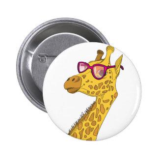 The Hipster Giraffe 6 Cm Round Badge
