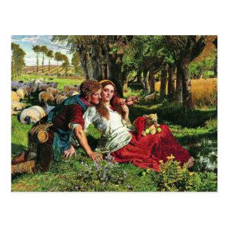 The Hireling German Shepherd: The Shepherd Hired Postcard