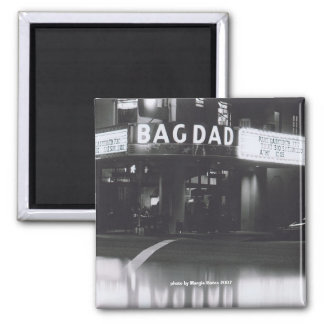 The Historic Bagdad Theatre Square Magnet