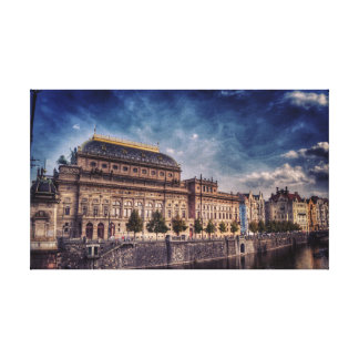 The historic National Theater in Prague Canvas Print