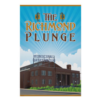 The historic Richmond Plunge Natatorium Poster