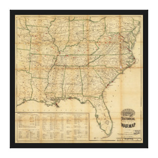 The Historical Civil War Map (1862) Stretched Canvas Print