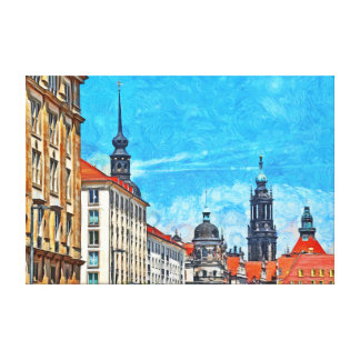 The historical part of Dresden. Canvas Print