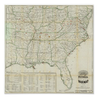 The Historical War Map Poster