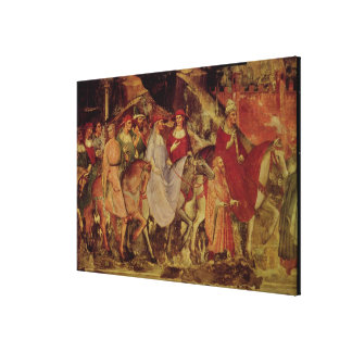 The History of Pope Alexander III Stretched Canvas Prints