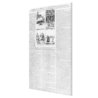The history of the Battle of Worcester Stretched Canvas Print