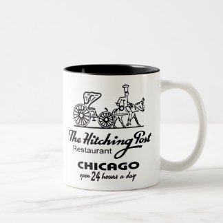 The Hitching Post Restaurant, Chicago, IL Two-Tone Coffee Mug