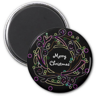 The Holiday Wreath 6 Cm Round Magnet