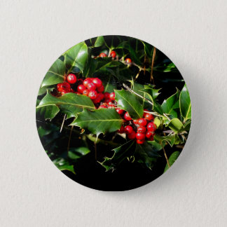 The Holly And The Ivy 6 Cm Round Badge