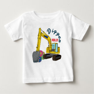 The Holly construction vehicle excavator power Baby T-Shirt
