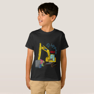 The Holly construction vehicle excavator power T-Shirt