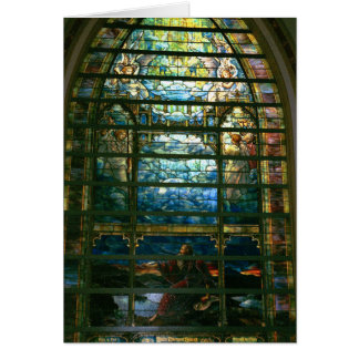 The Holy City Stained Glass by Tiffany Card