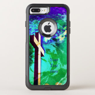 The Holy Cross Aqua and Amethyst - *Customize* OtterBox Commuter iPhone 8 Plus/7 Plus Case