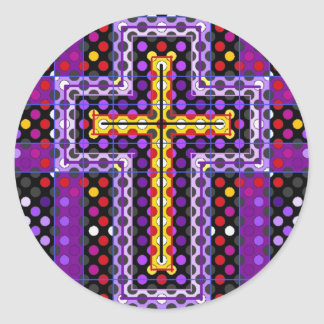 The Holy Cross Classic Round Sticker