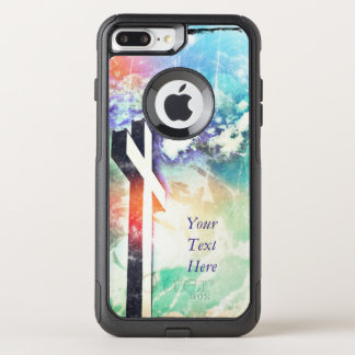 The Holy Cross Grunge -Rainbow Skies *Customize* OtterBox Commuter iPhone 8 Plus/7 Plus Case