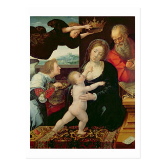 The Holy Family, 1522 (oil on panel) Postcard